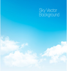 Blue sky panorama with transparent clouds vector