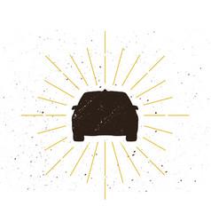 car silhouette logo vector image