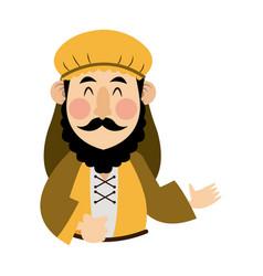 cartoon joseph man father christianity vector image