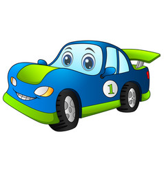 cartoon sport blue car vector image