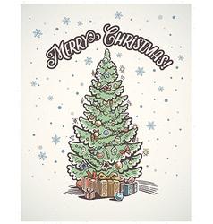 Christmas tree 03 vector image