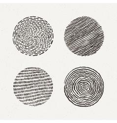 Circles set Texture vector image