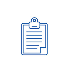 clipboard line icon concept clipboard flat vector image