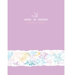 Colorful pastel branches vertical torn seamless vector