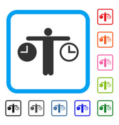Compare time framed icon vector