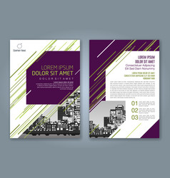 Cover annual report 929 vector