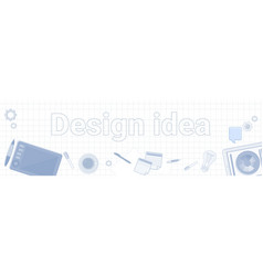 design idea word on squared background horizontal vector image