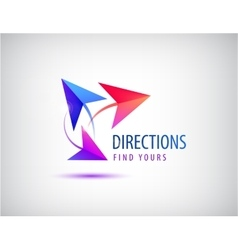 Direction logo arrows 3 ways concept vector