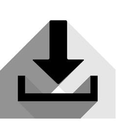 download sign black icon vector image