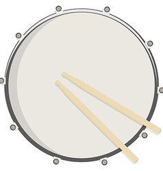 Drum and sticks vector