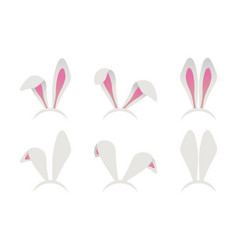 easter bunny ears mask vector image
