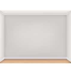 Empty room with three beige walls vector