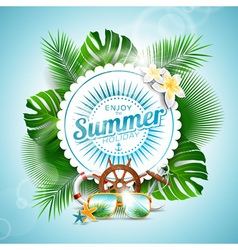 Enjoy summer holiday typographic design vector