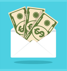 envelope with money vector image