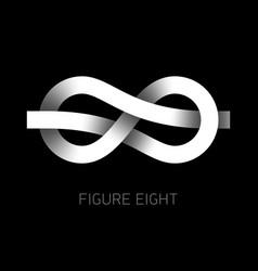 Figure eight knot symbol 8 vector