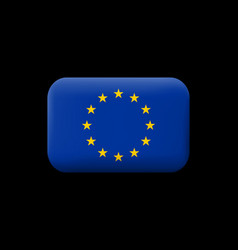Flag of european union matted icon and button vector