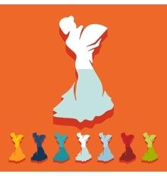 Flat design flamenco dancer vector