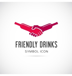 Friendly Drinks Bar Concept Symbol Icon or Logo vector