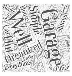 Garage organization made simple word cloud concept vector