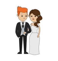 Groom and bride icon image vector