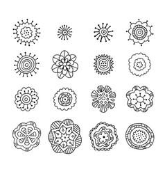 Hand drawn doodle decorative elements for design vector