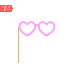 heart glasses isolated on white vector image