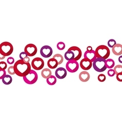 Heart symbol in red pink purple circles vector
