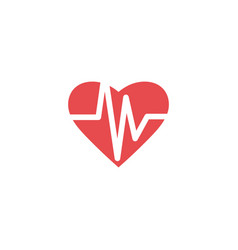 heartbeat icon design template isolated vector image