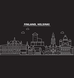 helsinki silhouette skyline finland - helsinki vector image