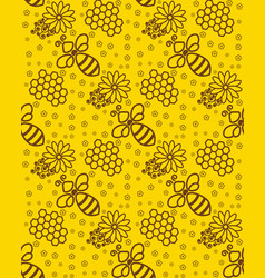 honey pattern wallpaper with a bee background for vector image