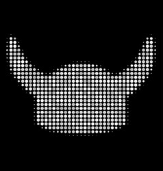 horned helmet halftone icon vector image