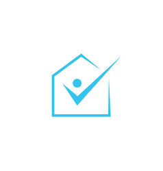 house check people logo icon vector image