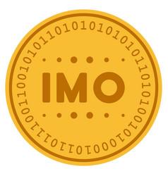 Imo caption digital coin vector