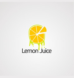 lemon juice logo concept icon element and vector image
