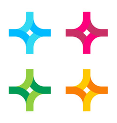 logo in form a stylized cross or vector image