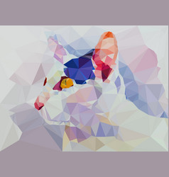 low poly geometric of cat vector image