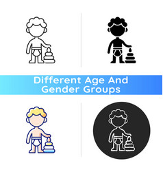 Male toddler icon vector