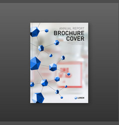 Medical brochure cover template or flyer layout vector