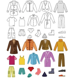 Mens clothing collection vector image