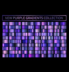 Metallic neon blue purple chrome gradient vector