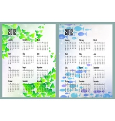 nature calendars vector image