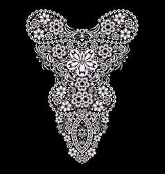Neckline - ornamental ethnic design vector