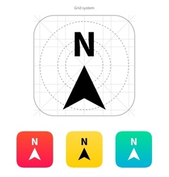 North direction compass icon vector image