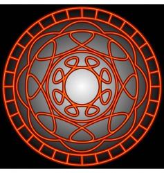 orange swirls in a circle vector image vector image