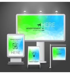 Outdoor advertising design vector image