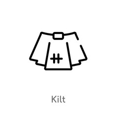 Outline kilt icon isolated black simple line vector