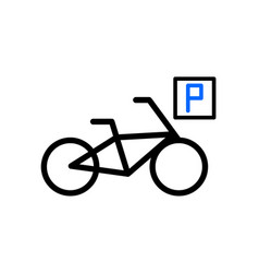 parking for cyclists vector image