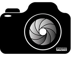 Photocamera vector image