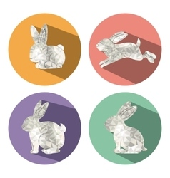 rabbit low poly design vector image