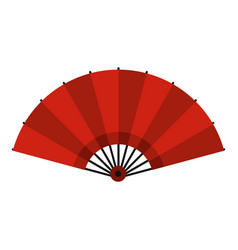 red open hand fan icon isolated vector image